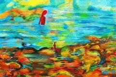 Ghajar-Waiting-54x54-Acrylic-on-Canvas