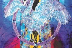 Singing in the Sacred Grove - Swan detail